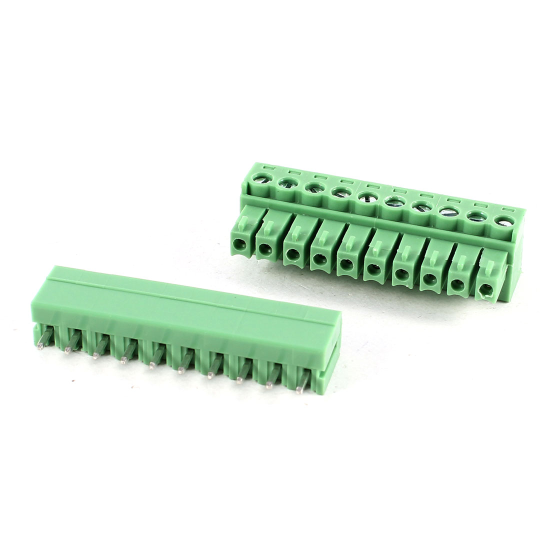 Green KF2EDG 3.81mm 10Position Screw Pluggable Terminal Block Connector 300V 8A