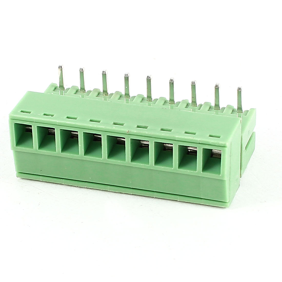 Green 9Pin 3.5mm Spacing PCB Screw Terminal Block Connector 300V 8A AWG22-16