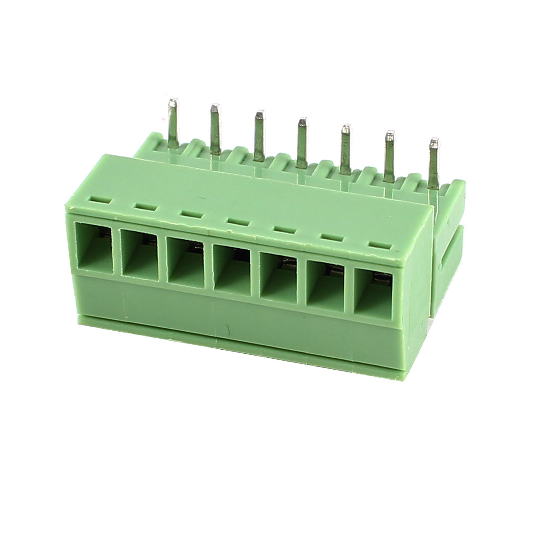 Green 7Pin 3.5mm Spacing PCB Screw Terminal Block Connector 300V 8A AWG22-16