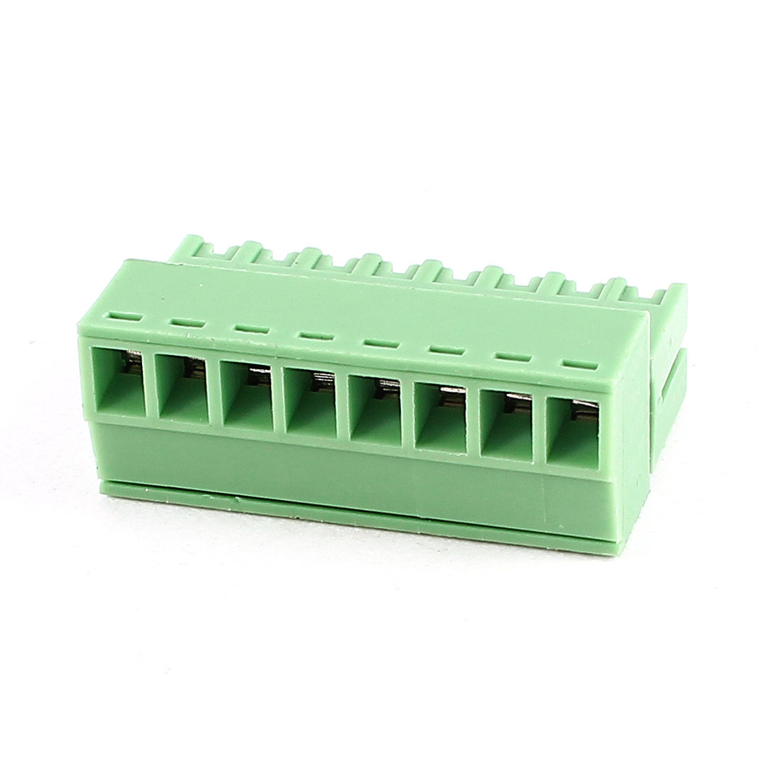 Green 8Pin 3.5mm Spacing PCB Screw Terminal Block Connector 300V 8A AWG22-16
