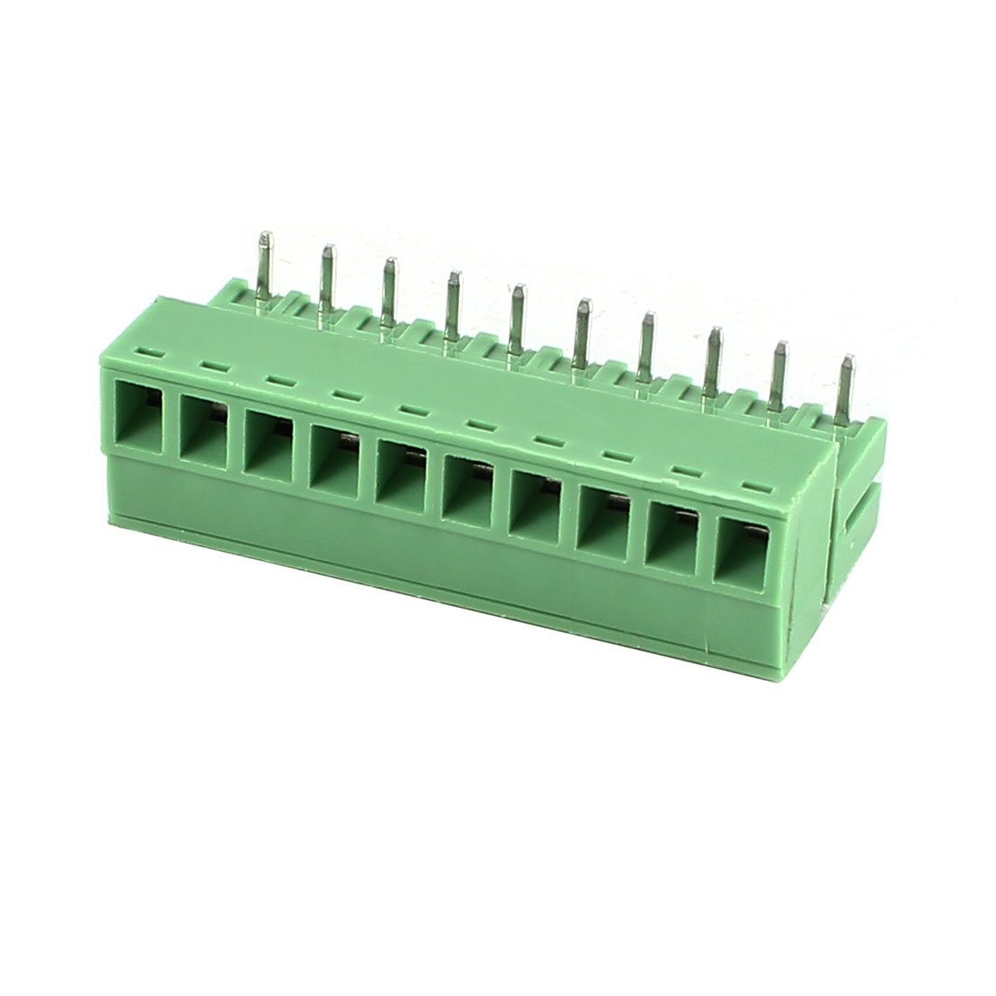 Green 10Pin 3.81mm Spacing PCB Screw Terminal Block Connector 300V 8A AWG22-16