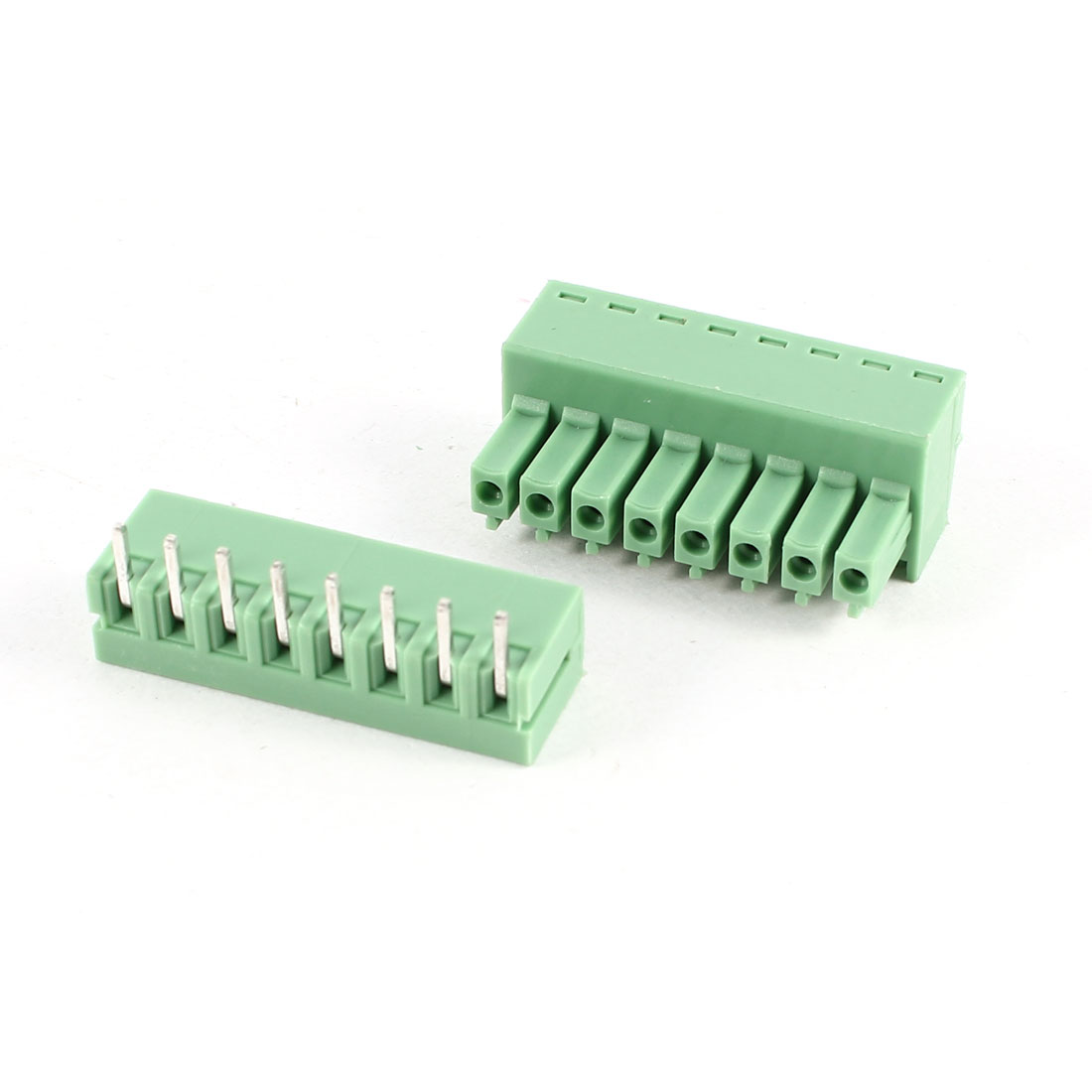 Green Right Angle KF2EDG 3.5mm 8Position Screw Pluggable Terminal Block Connector 300V 8A