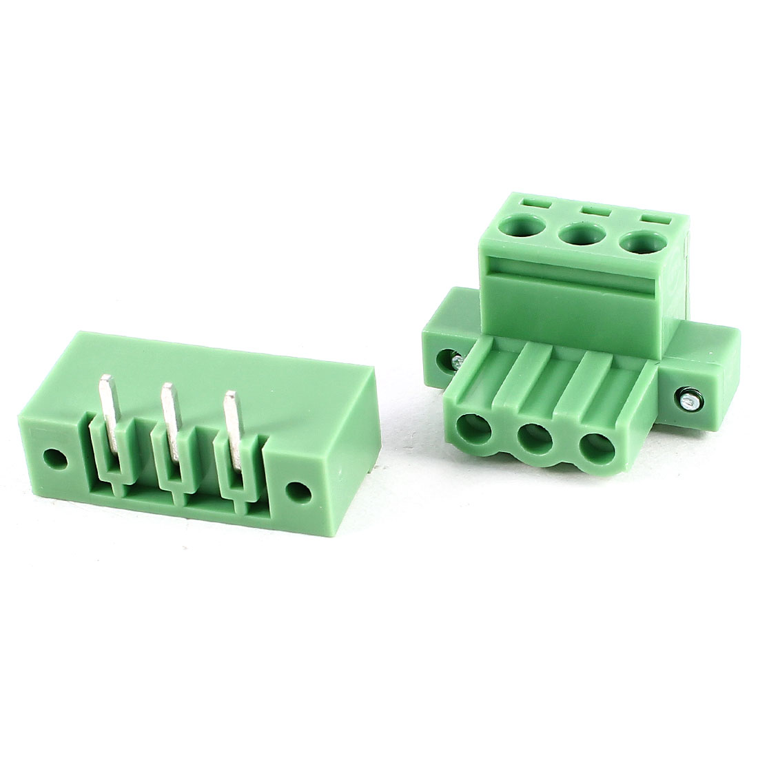 Green 3Pin 5.08mm Spacing PCB Screw Terminal Block Connector 300V 10A AWG24-12