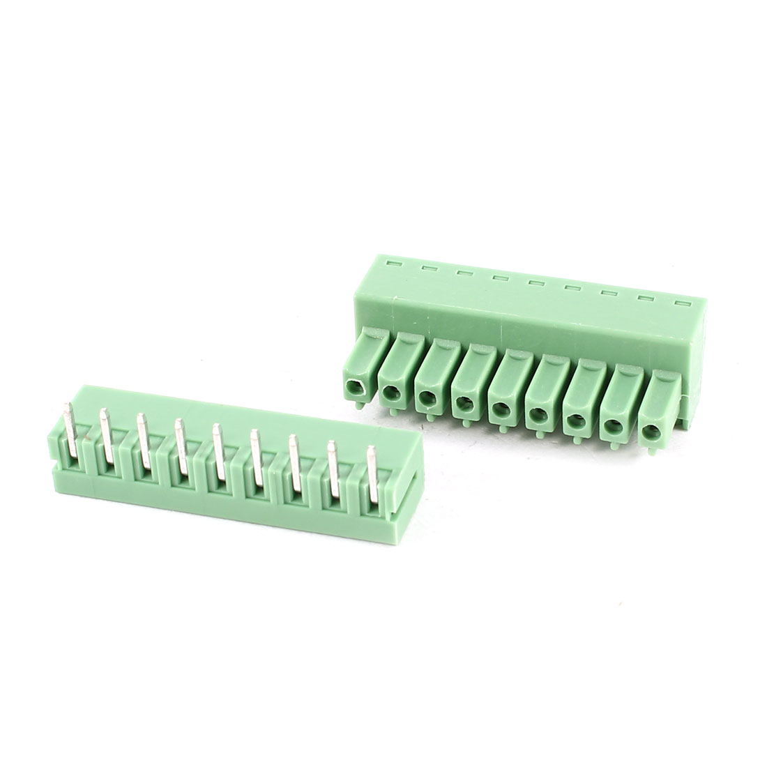 Green 9Pin 3.81mm Spacing PCB Screw Terminal Block Connector AC 300V 8A AWG22-16