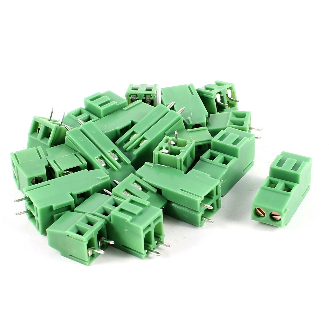 10 Pcs 2 Terminals 5mm Pitch PCB Screw Terminal Block Connector Set 300V 10A AWG24-12