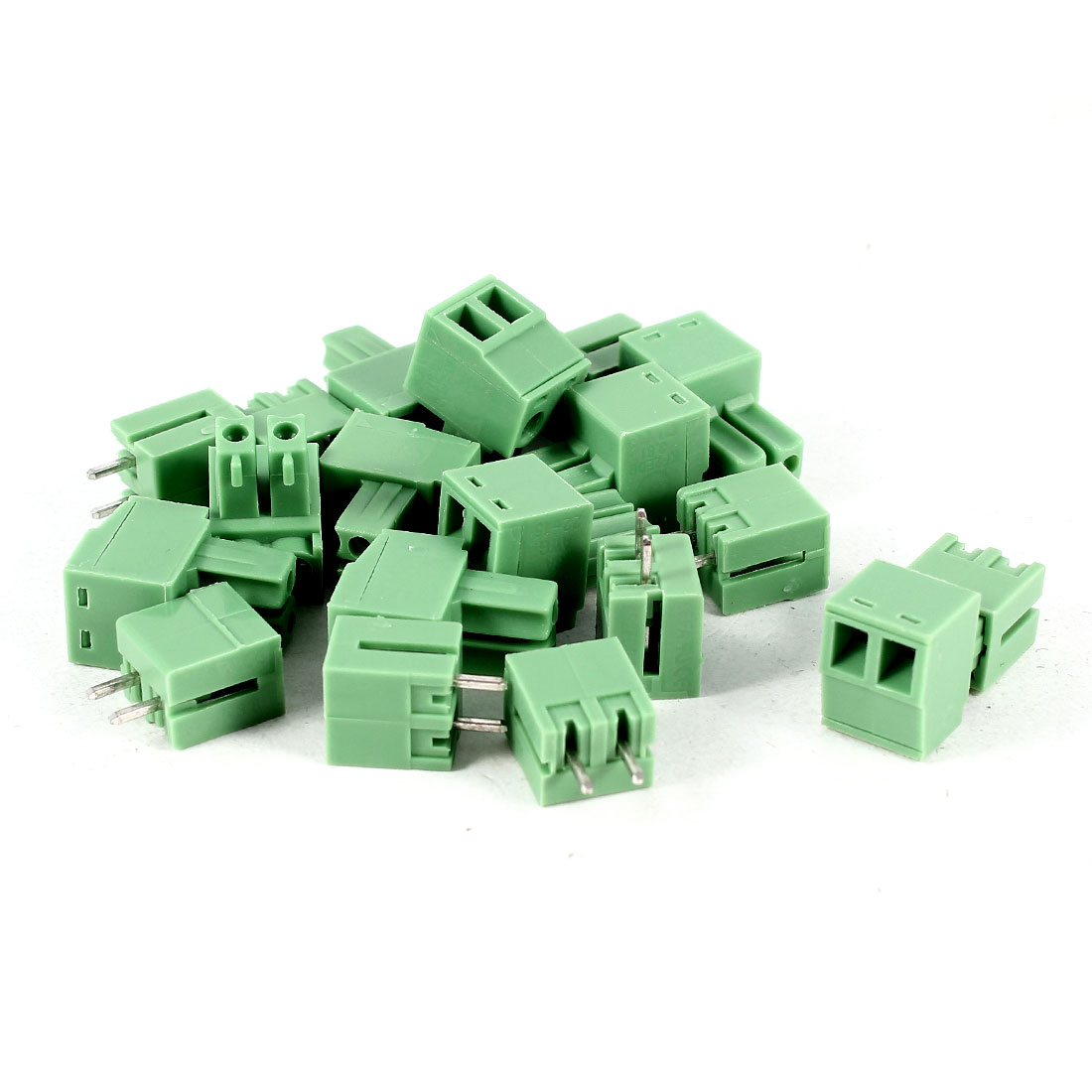 10 Pcs Green KF2EDG 3.81mm 2Position 2Pin Pluggable Screw Terminal Block Connector 300V 8A