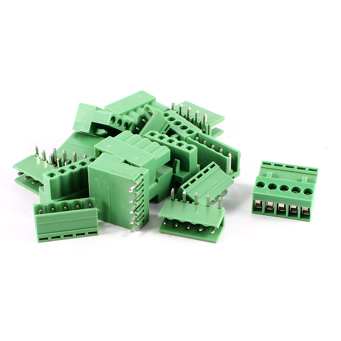 10 Pcs 5Pin 3.96mm Spacing PCB Screw Terminal Block Connector 300V 10A AWG14-26