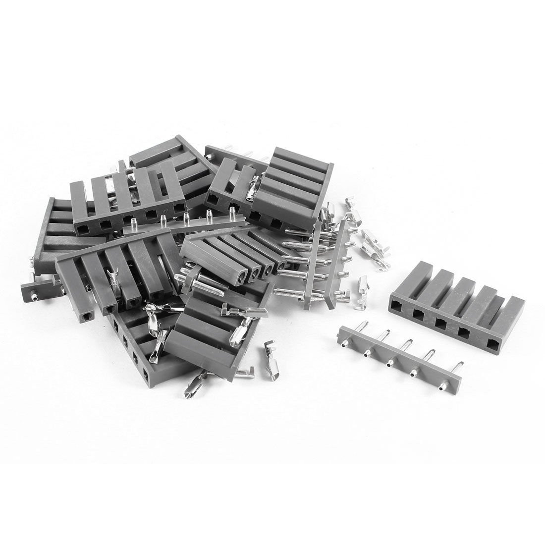 10 Pcs Gray TJC1-5P 5Pin Connector 10mm 8mm Pitch PCB Plastic Housing Socket