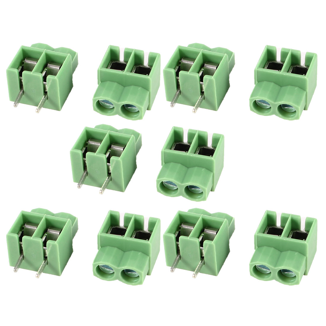 10 Pcs KF166-2P 5mm 2 Pin 2 Position PCB Mount Screw Terminal Blocks 300V 16A