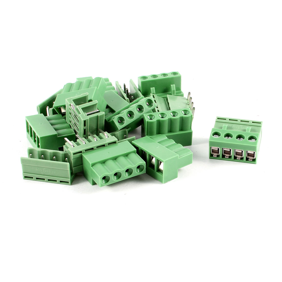 10 Pcs 4Pin 5.08mm Spacing PCB Screw Terminal Block Connector 300V 10A AWG14-26