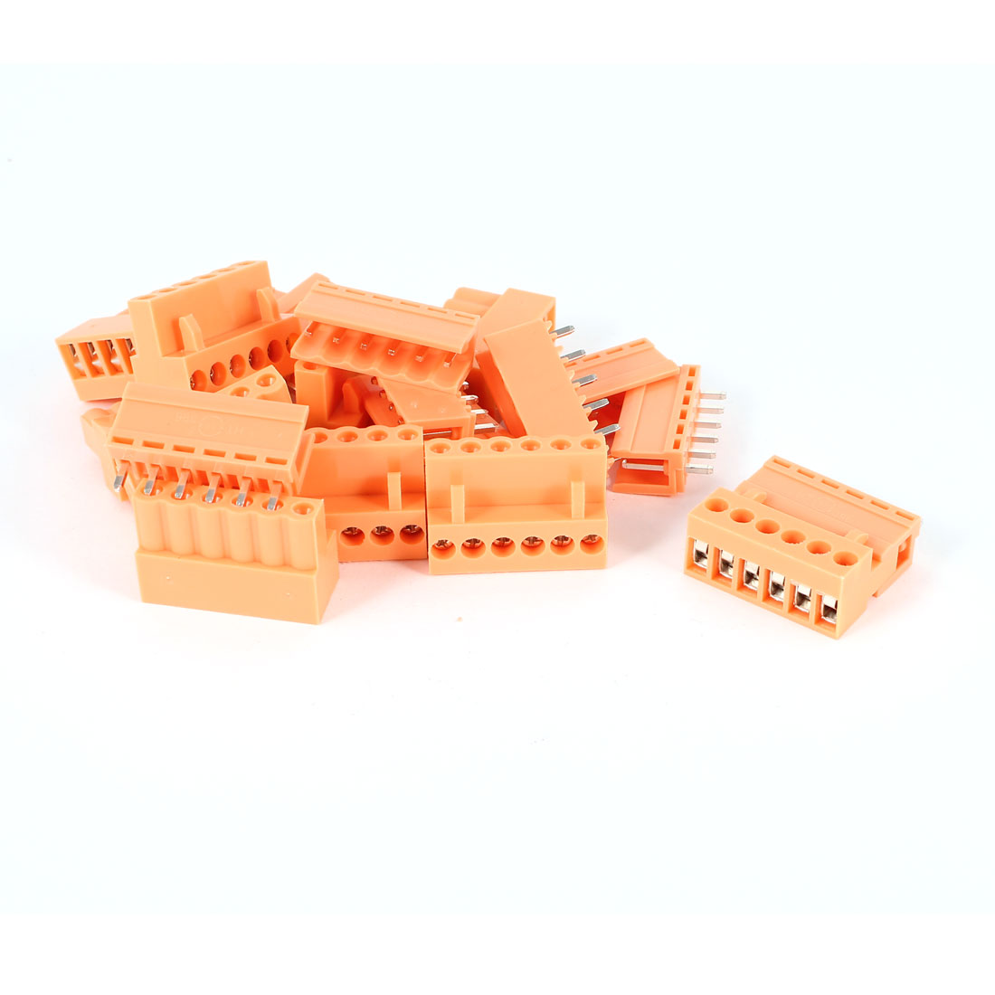 10 Pcs Orange HT396K 3.96mm 6Position 6Pin Pluggable Screw Terminal Block Connector 300V 10A
