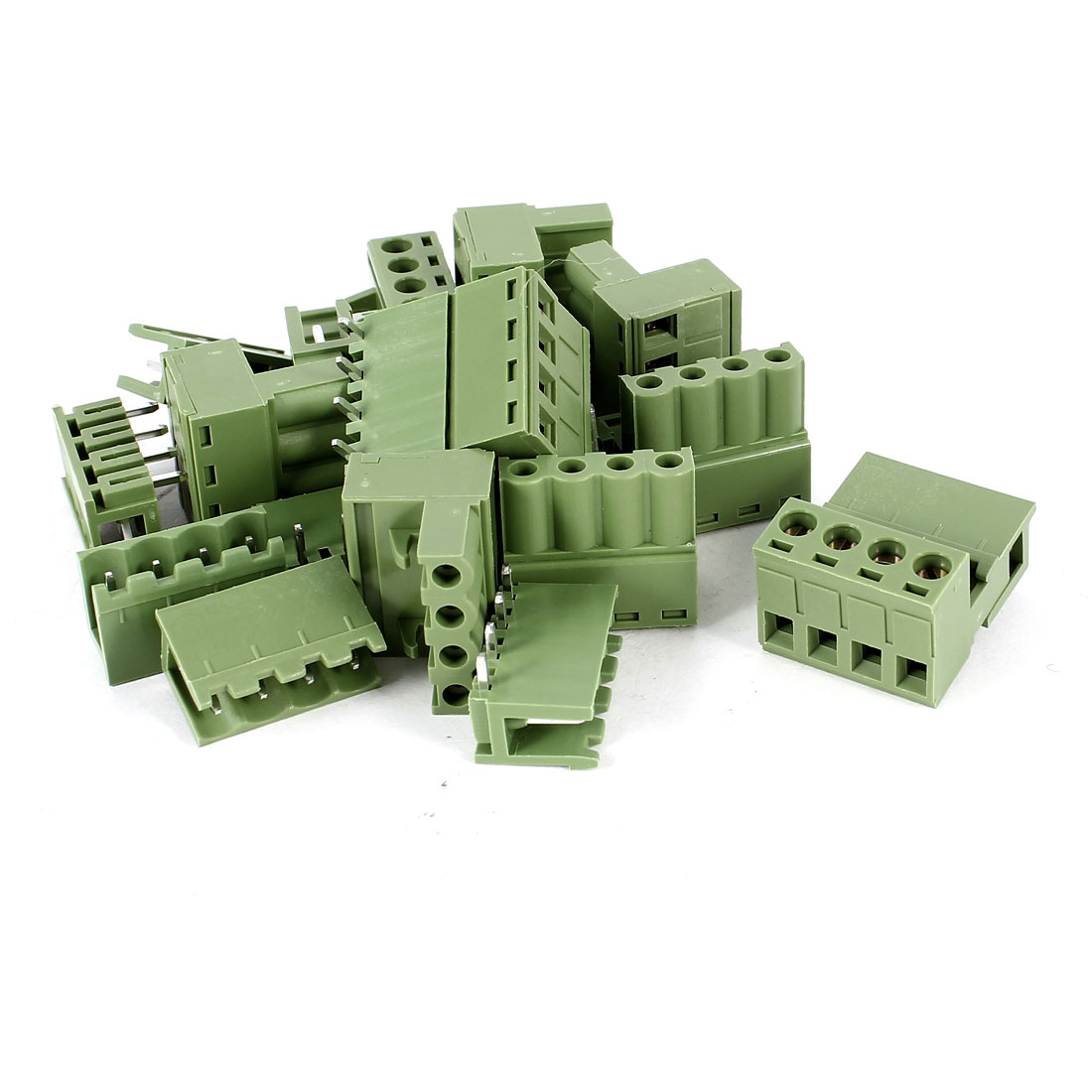 10 Pcs 4Pin 3.96mm Spacing PCB Screw Terminal Block Connector 300V 10A AWG12-24