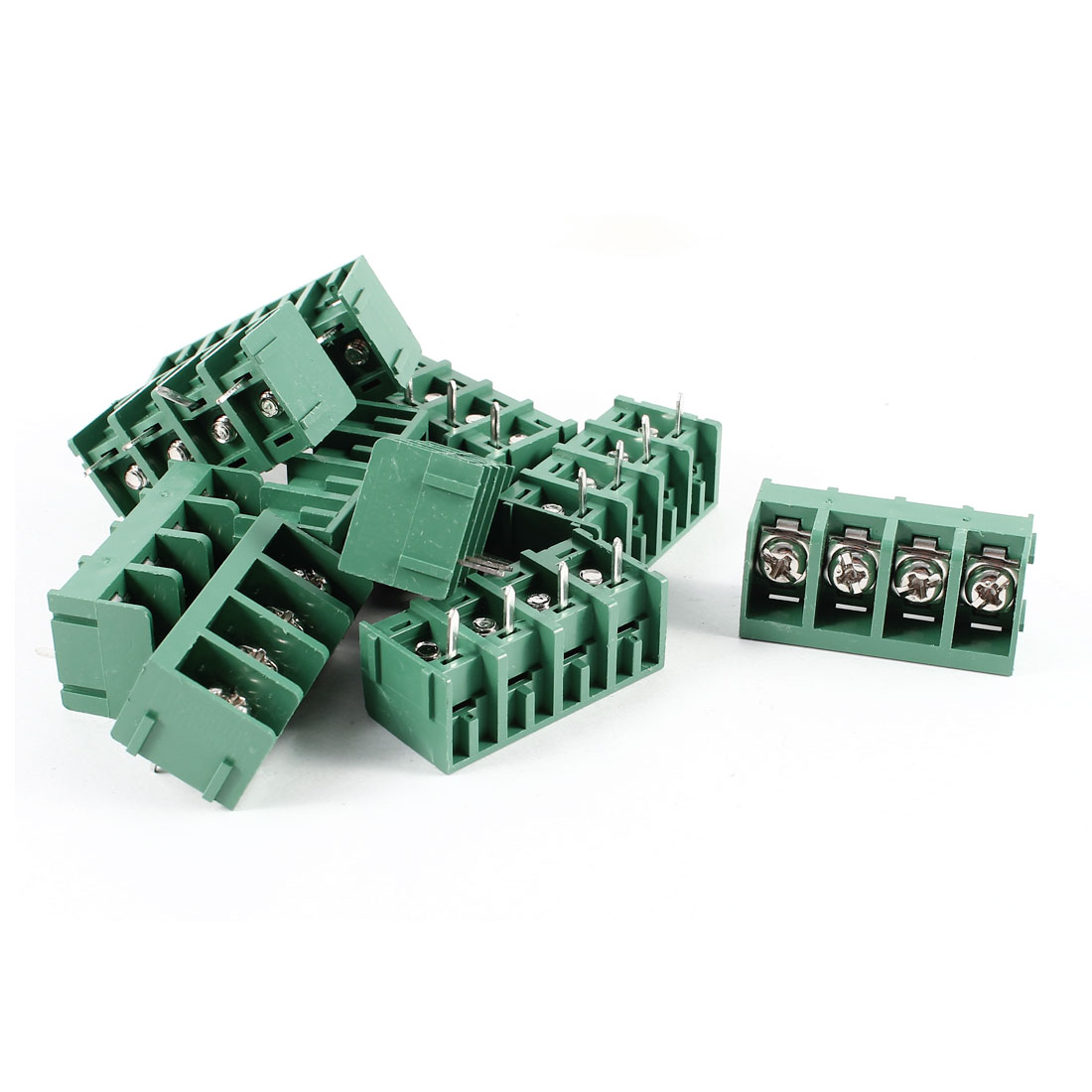 10 Pcs Green HB9500-4P 4 Position 4Pin PCB Mount 9.5mm Pitch Screw Terminal Barrier Blocks 300V 30A