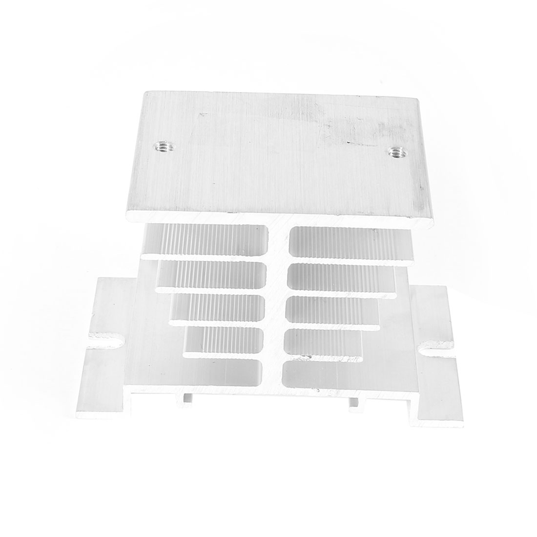Aluminium Heat Sink Heatsink Cooling Fin Silver Tone for Solid State Relay SSR