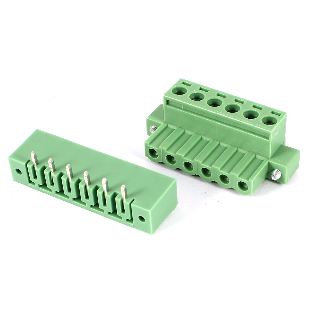 Green KF2EDGK 5.08mm 6Position Right Angle 6Pin Pluggable Screw Terminal Block Connector 300V 10A