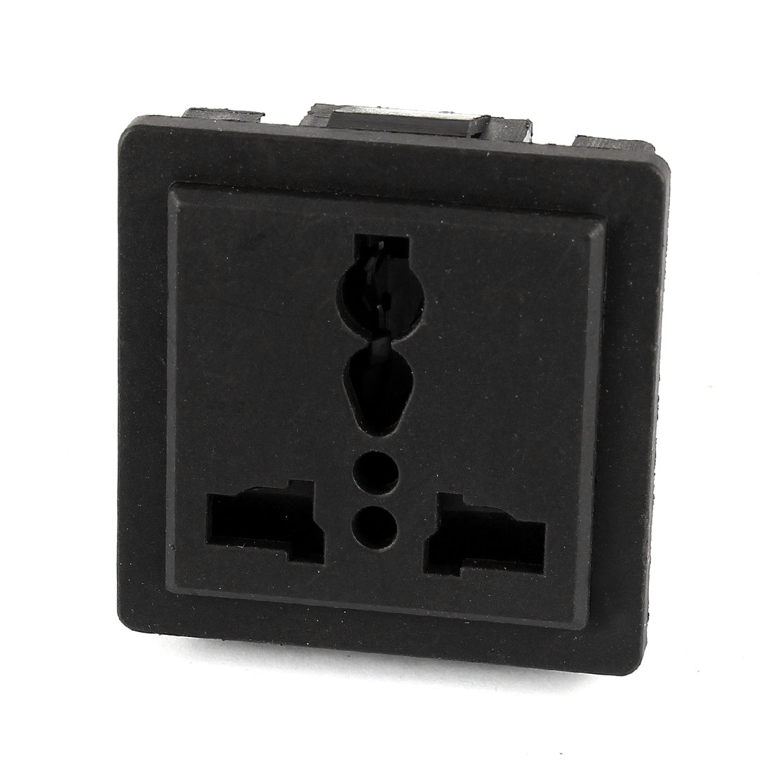 AC 250V 10A Universal AU EU UK US Flush Type Panel Mount Power Socket Black