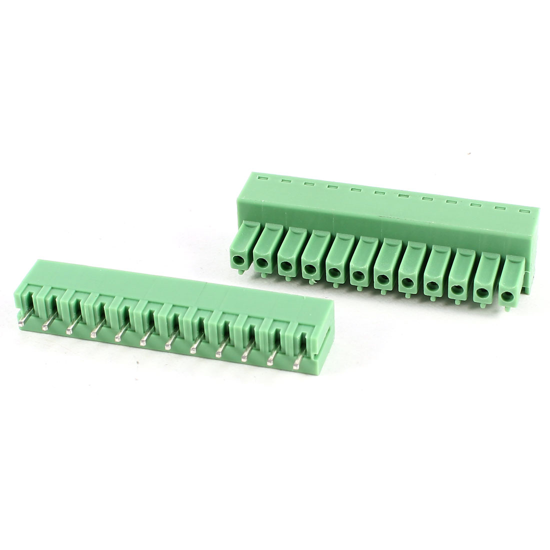 Green 12Pin 3.81mm Spacing PCB Screw Terminal Block Connector 300V 8A AWG22-16