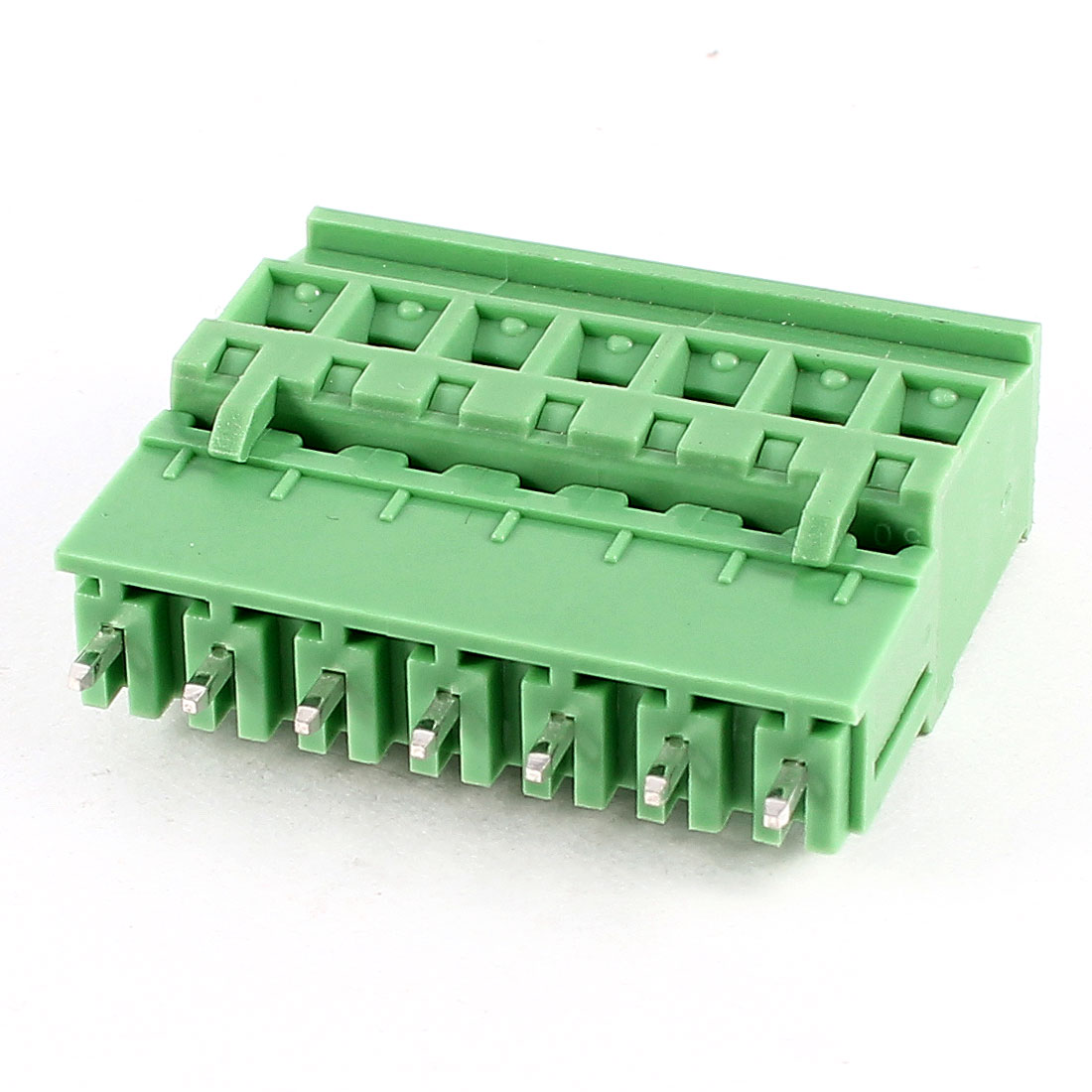 Green 7Pin 5.08mm Spacing PCB Screw Terminal Block Connector 300V 10A AWG24-12