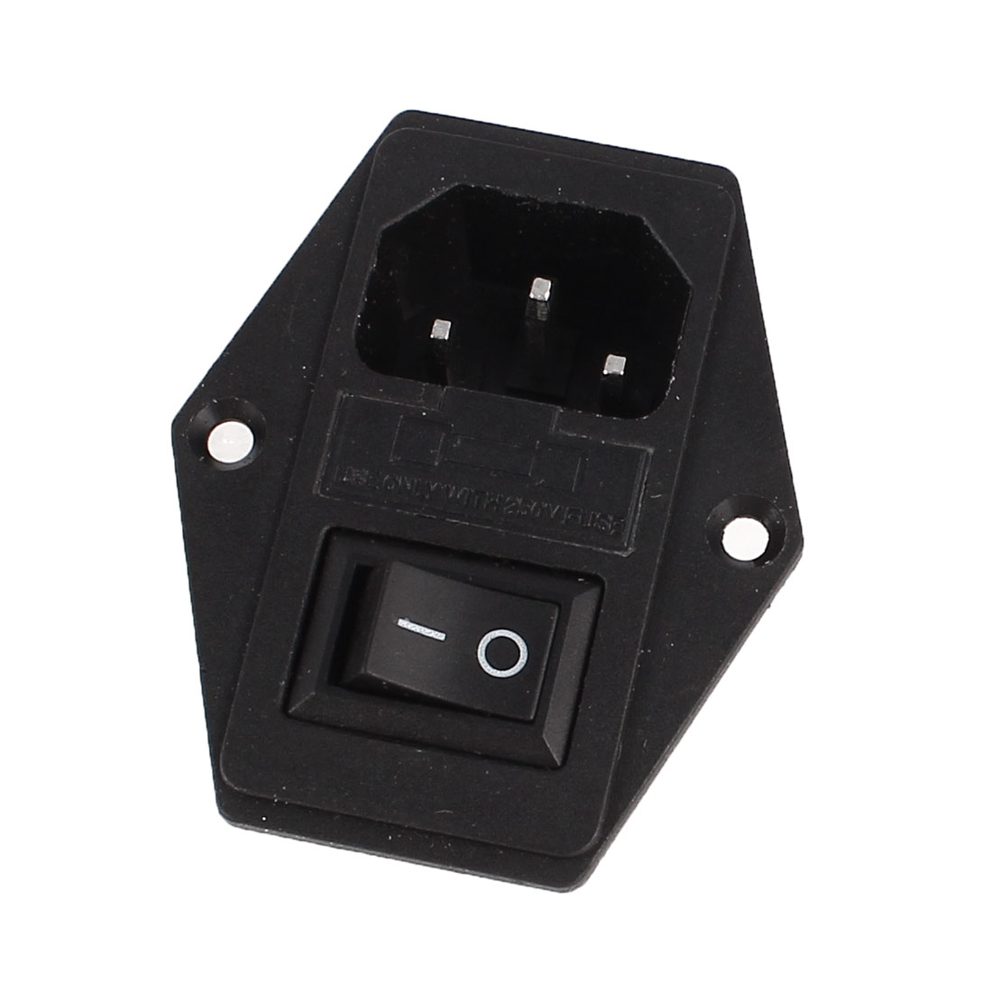 SPST ON/OFF Rocker Switch 250V 10A w Fuse Holder w IEC320 C14 Power Inlet