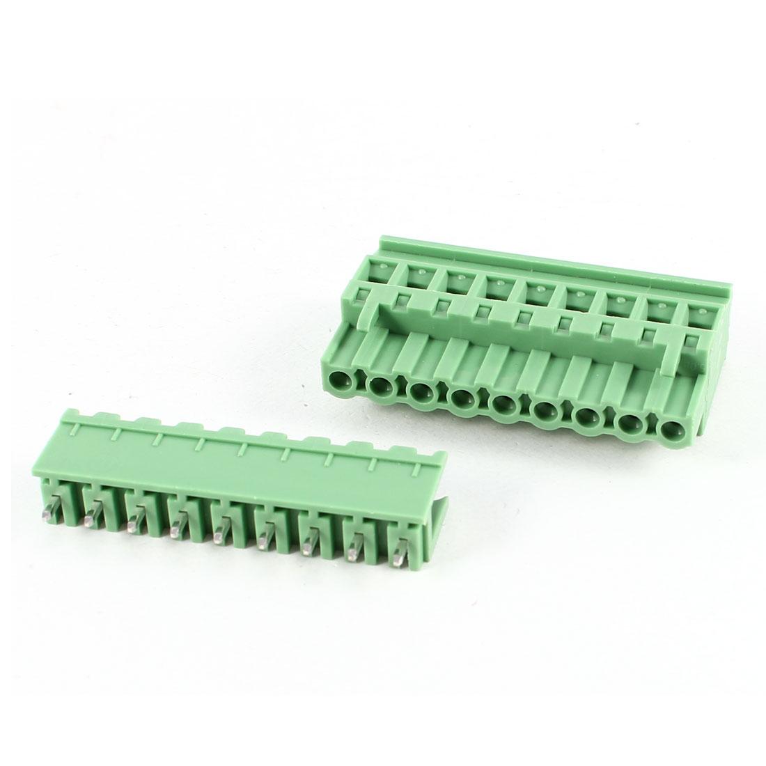 Green KF2EDGKA 5.08mm 10Position Screw Pluggable Terminal Block Connector 300V 10A