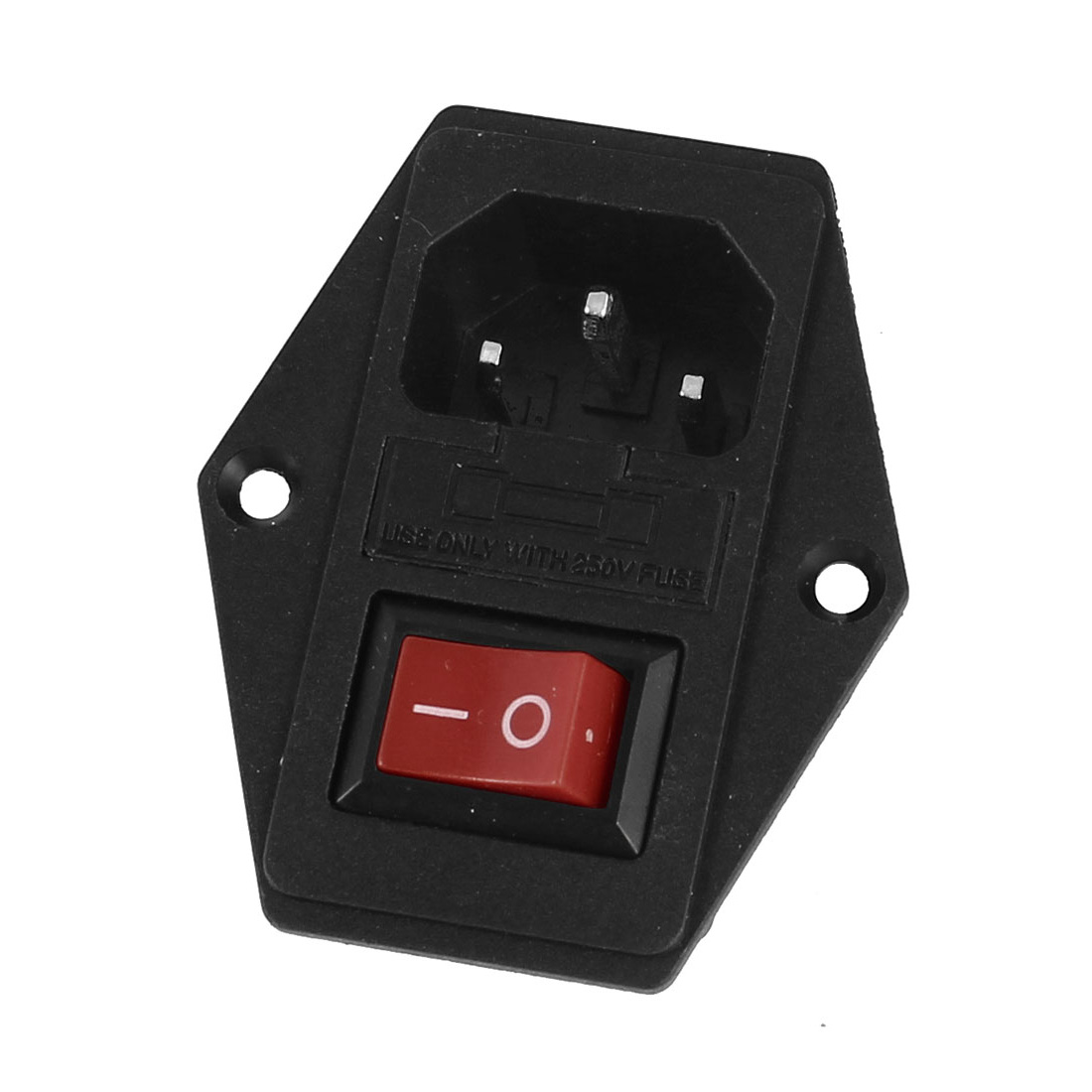 KCD1-102 SPDT ON/OFF Rocker Switch 250V 10A w Fuse Holder w IEC320 C14 Power Inlet