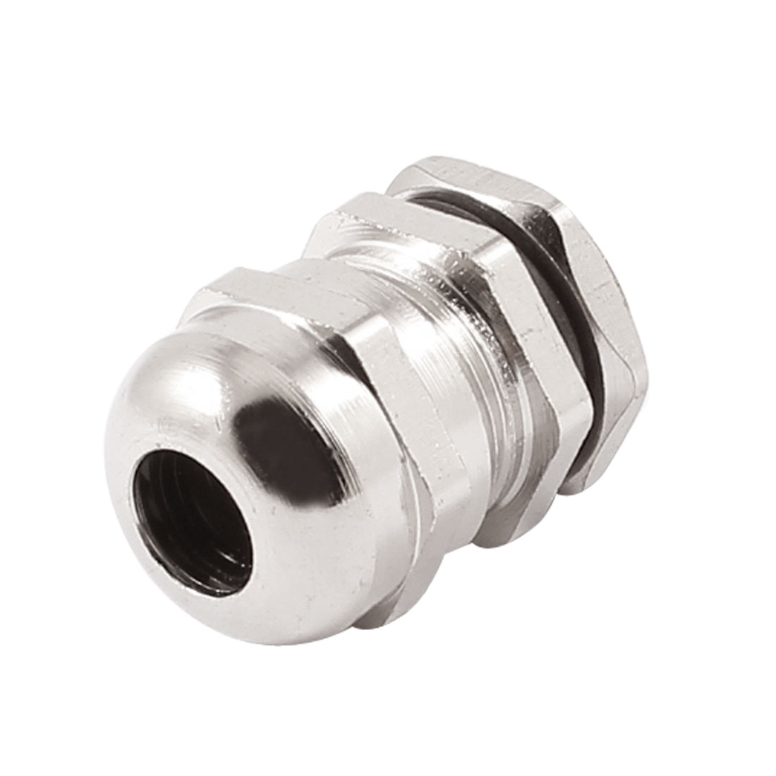 Silver Tone Water Proof PG9 4-8mm Jiont Cable Gland Connector