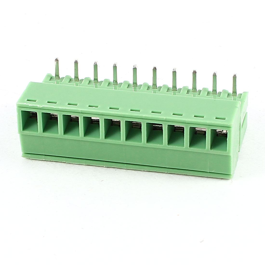 Green 10Pin 3.5mm Spacing PCB Screw Terminal Block Connector 300V 8A AWG22-16