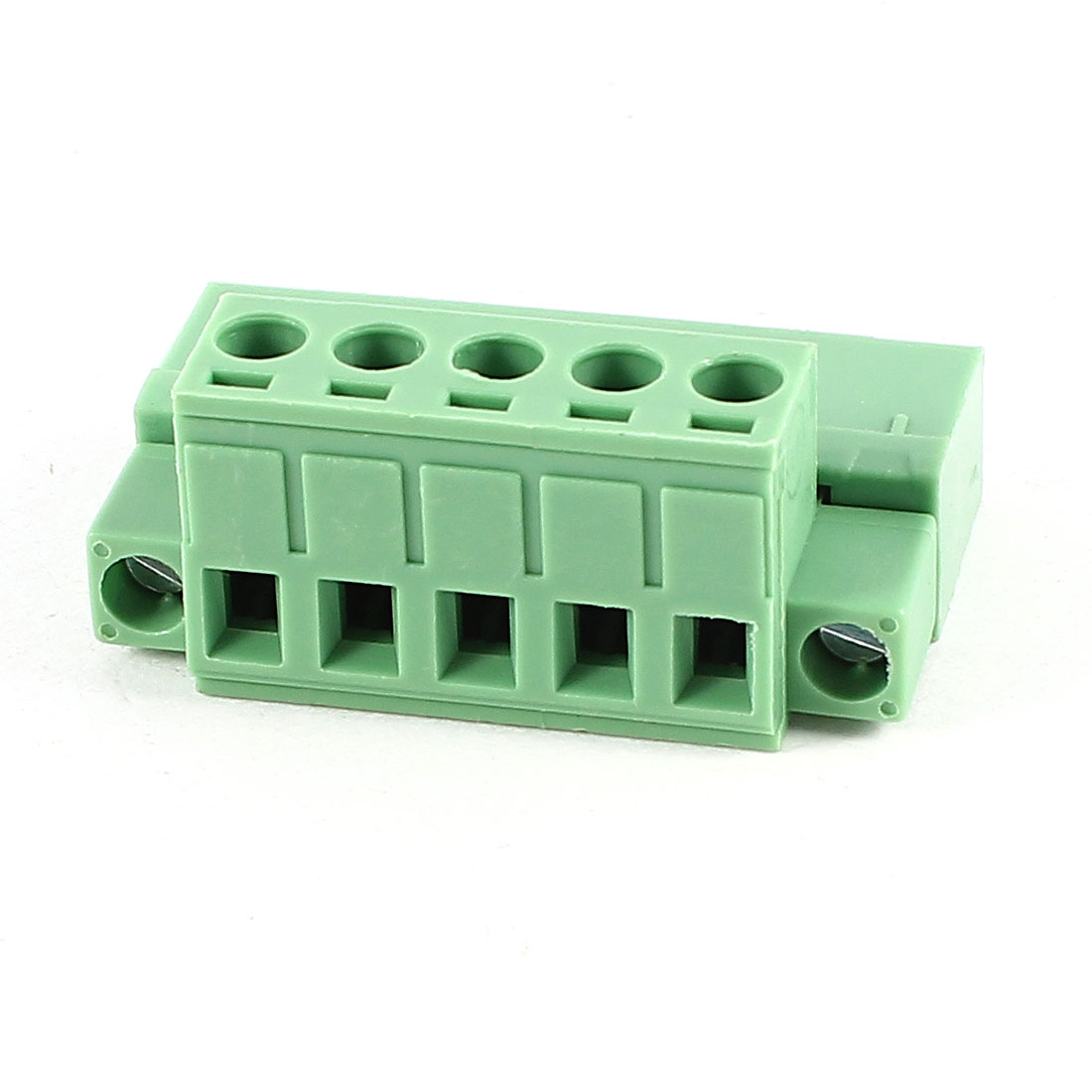 Green 5Pin 5.08mm Spacing PCB Screw Terminal Block Connector 300V 10A AWG24-12