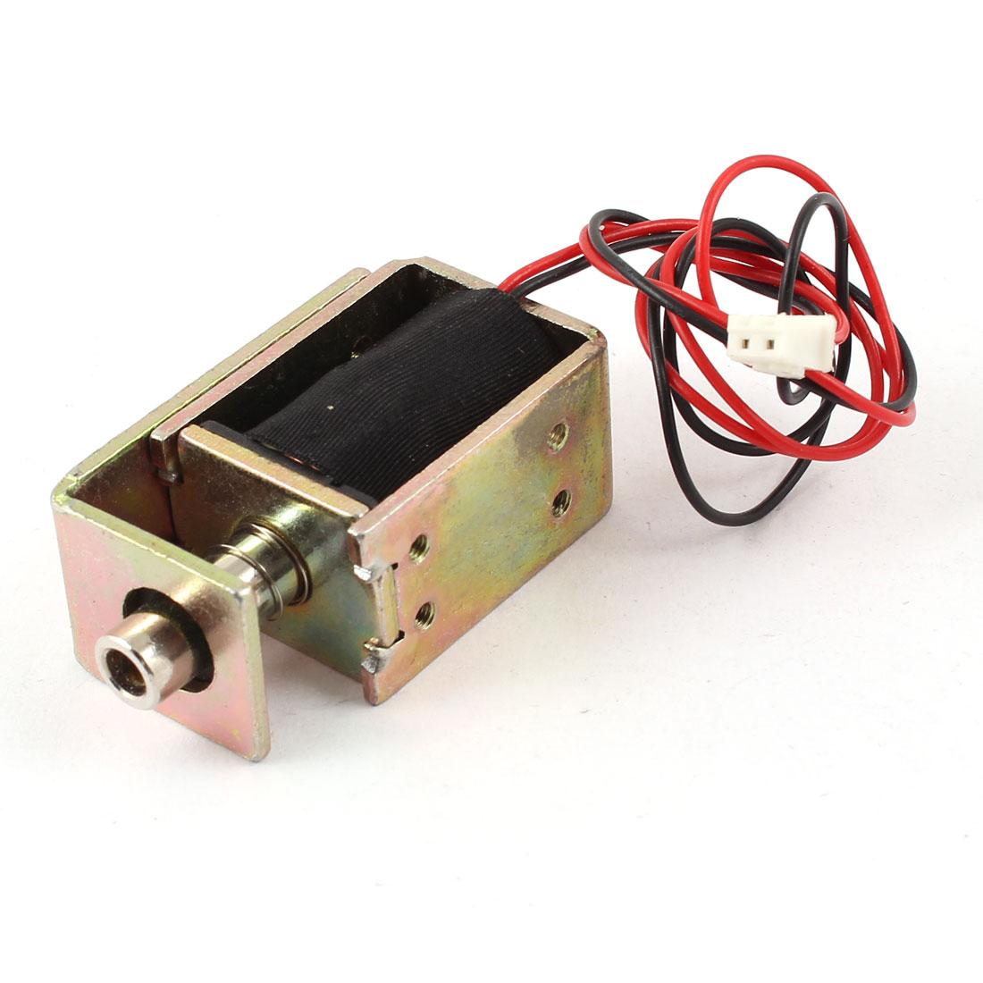DC 6V 1.8W 0.3A 2mm 200g 4mm 100g Pull Type Open Frame Linear Motion Solenoid Electromagnet Actuator