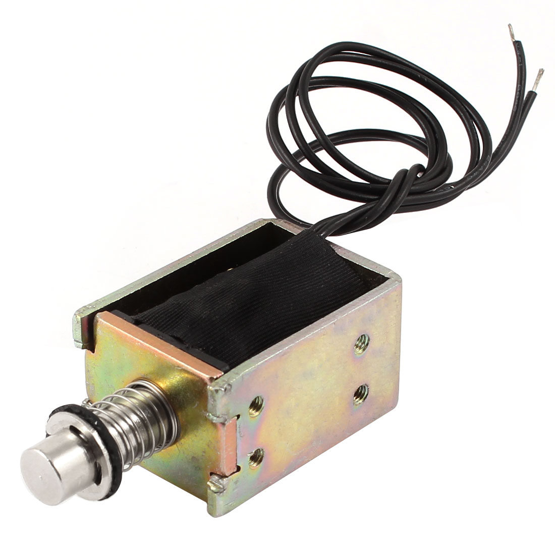 DC 24V 1.84A 44.3W 8mm 400g Pull Type Open Frame Linear Motion Solenoid Electromagnet Actuator