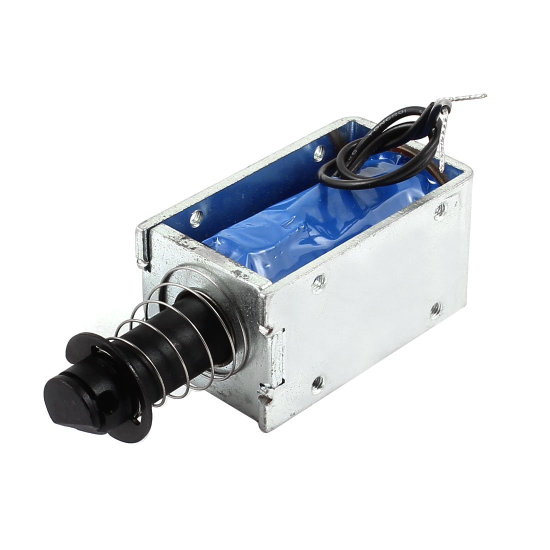 DC 24V 48W 7mm 800g Pull Type Spring Plunger Open Frame Linear Motion Solenoid Electromagnet Actuator