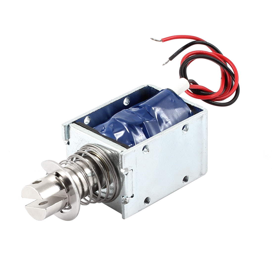 DC 48V 92.16W 7mm 500g Pull Type Open Frame Linear Motion Solenoid Electromagnet Actuator