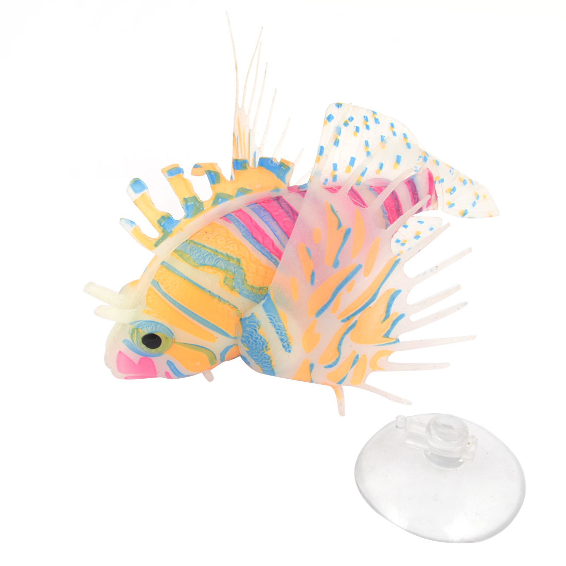 Fish Tank Suction Cup Simulation Underwater Floating Lionfish Ornament Colorful