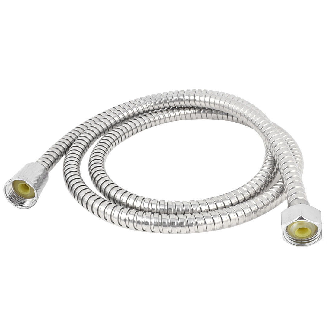 Bathroom 1/2BSP Thread Flexible Spiral Shower Hose Pipe 4.76Ft Long