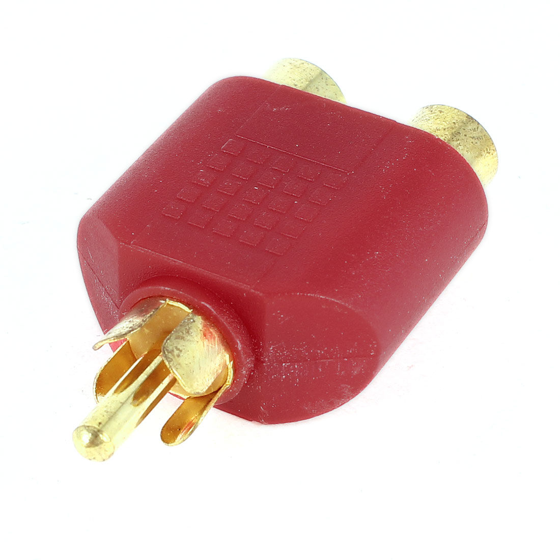 RCA Male Connector to Dual RCA Female Jacks Audio Adapter Y Splitter Converter