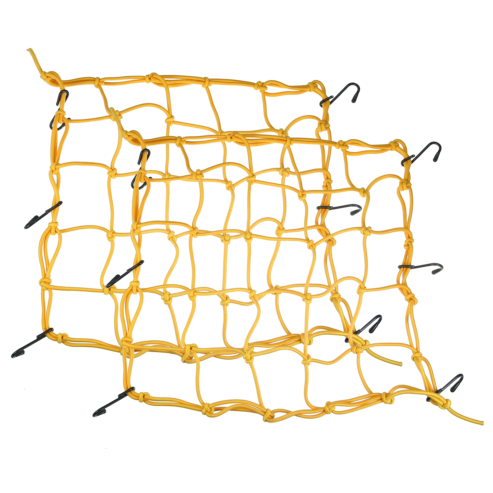 2 Pcs Yellow Motorcycle Bike Equipment Cargo Luggage Mesh Bungee Net 40 x 40cm
