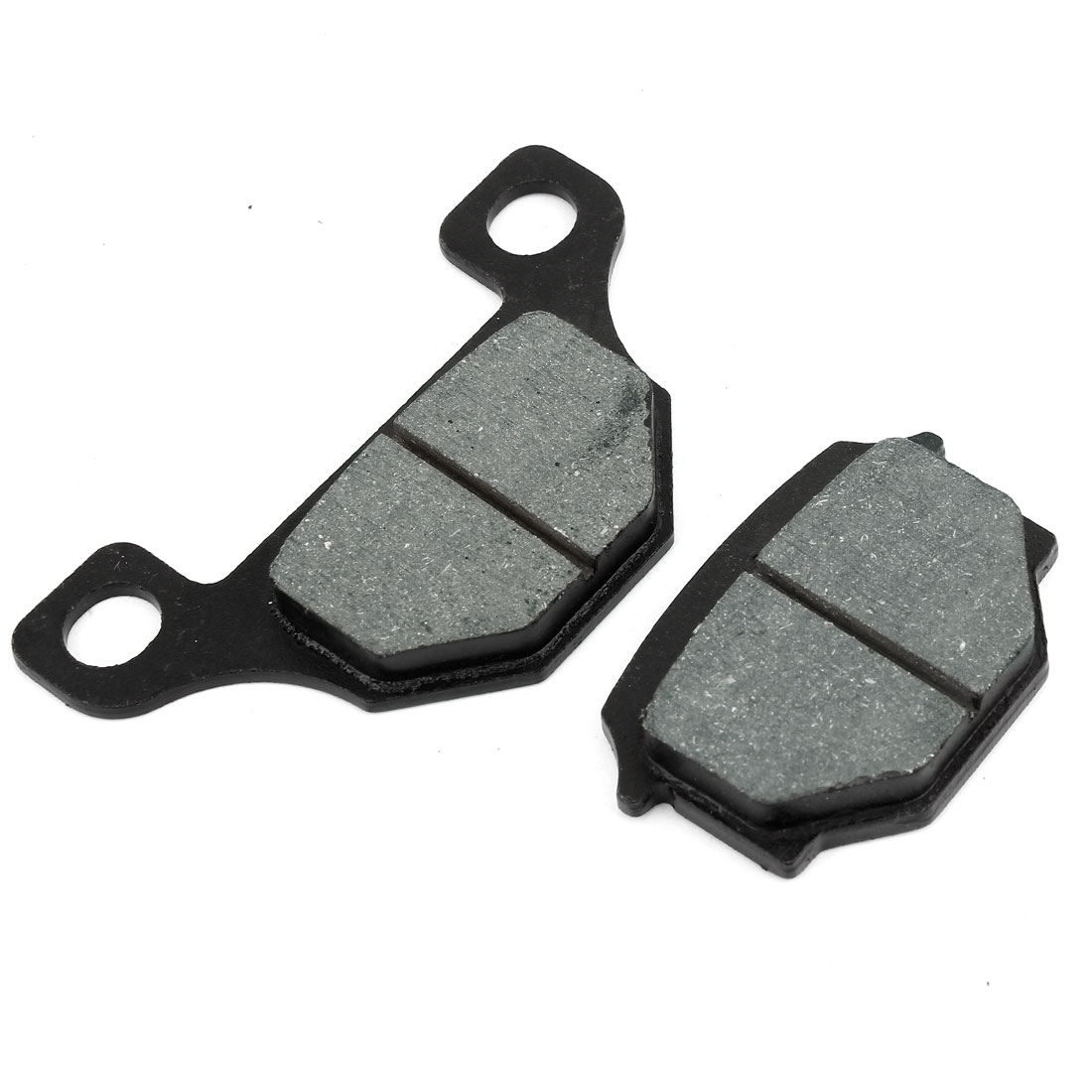 2 Pcs Black Motorcycle Wearproof Fiber Front Brake Pads GS125