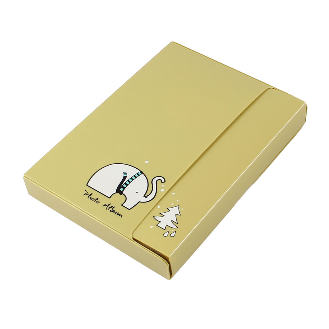 PVC Plastic Cartoon Print Decor Khaki Cover 20 Page Photo Album