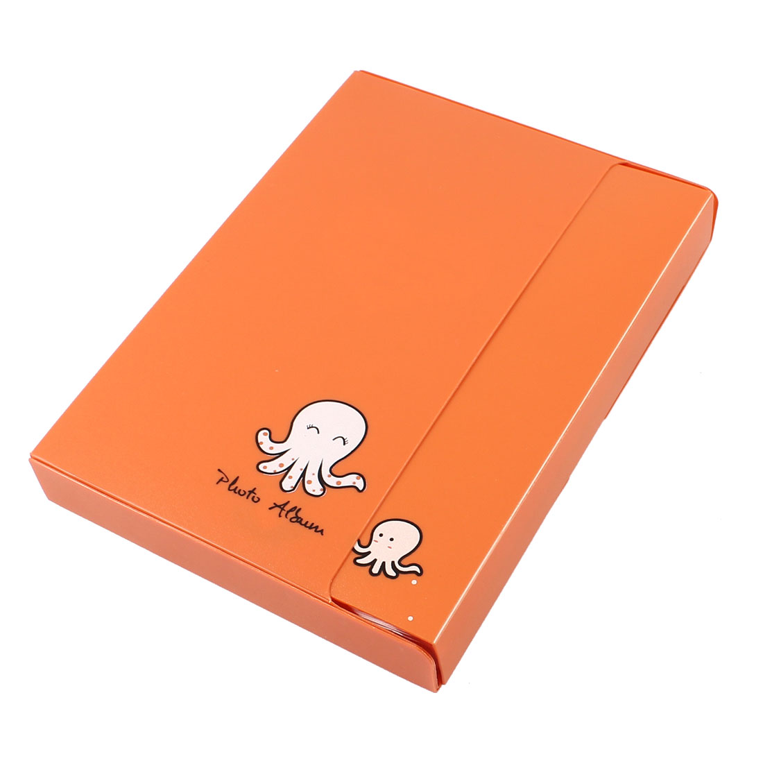 PVC Plastic Cartoon Octopus Print Orange Cover 20 Page Photo Album
