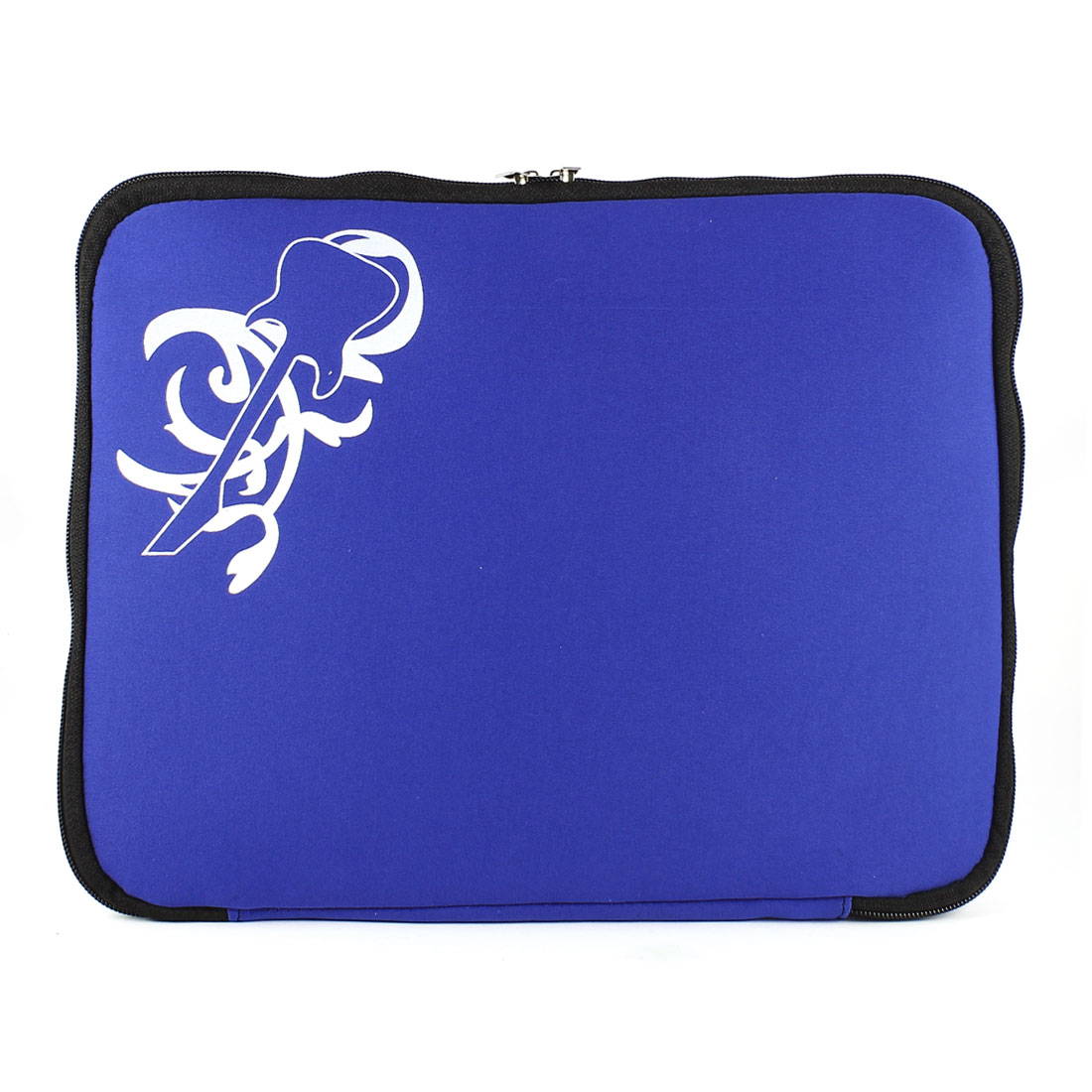 "14"" 14.1"" Guitar Pattern Zipper Laptop Notebook Sleeve Case Bag Royal Blue"