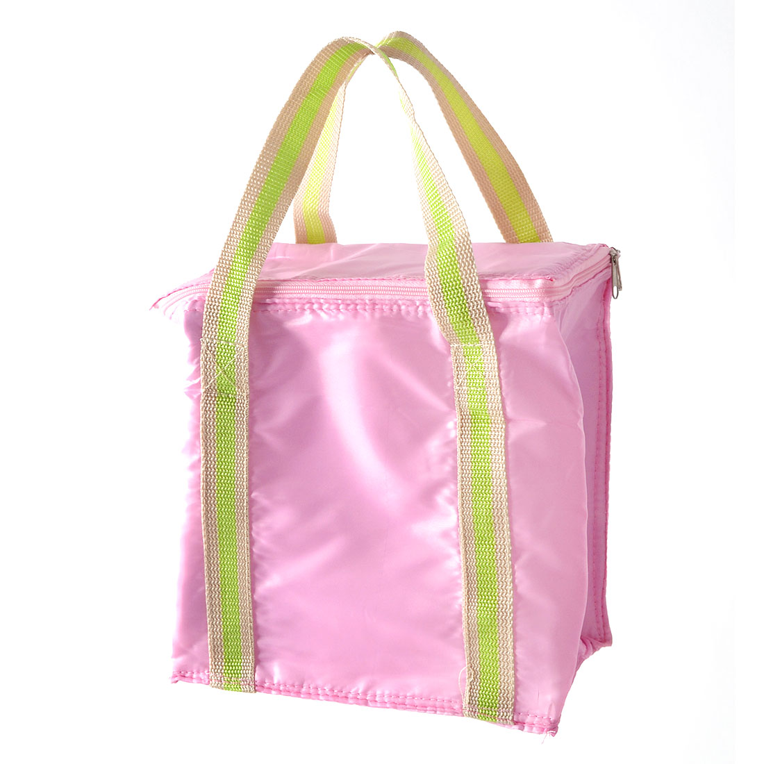Camping Retangle Shape Insulated Lunch Drink Tote Picnic Cooler Bag Pink