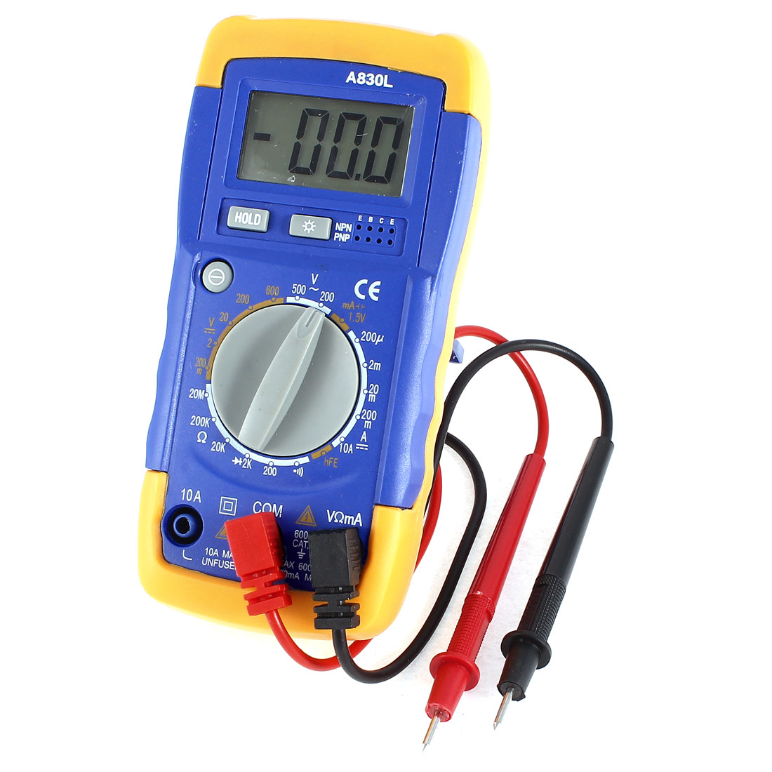 LCD Display Volt Frequency Digital Multimeter A830L Battery Power