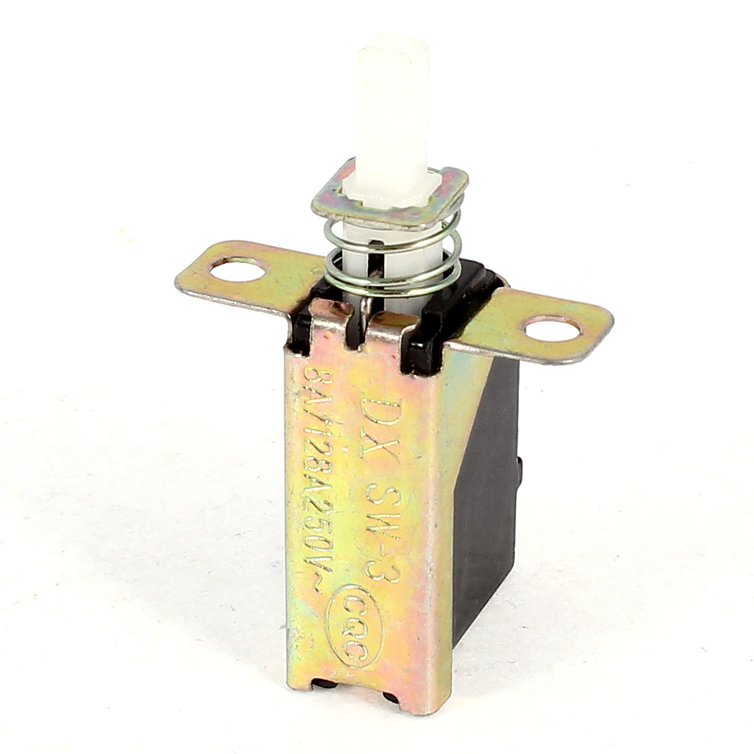 AC 250V 8A/128A Single Pole Single Throw SPST Push Button Power Switch