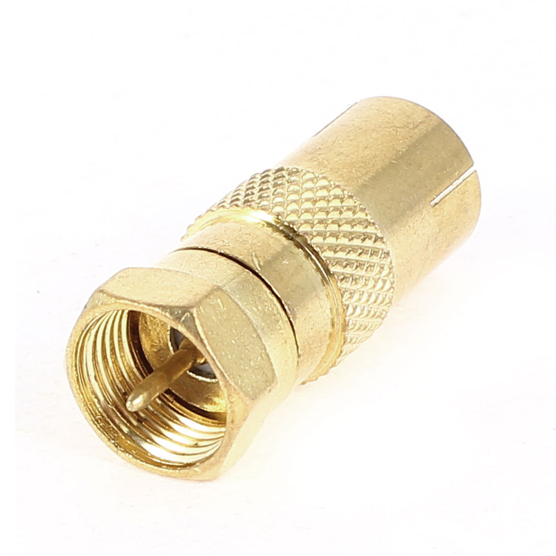 F Type Male to 9.5mm TV PAL Female RF Antenna CATV FM Coaxial Adapter
