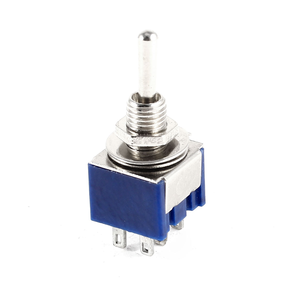 Blue PCB Mounting 6 Terminals ON-OFF-ON Mini Toggle Switch AC 125V 6A