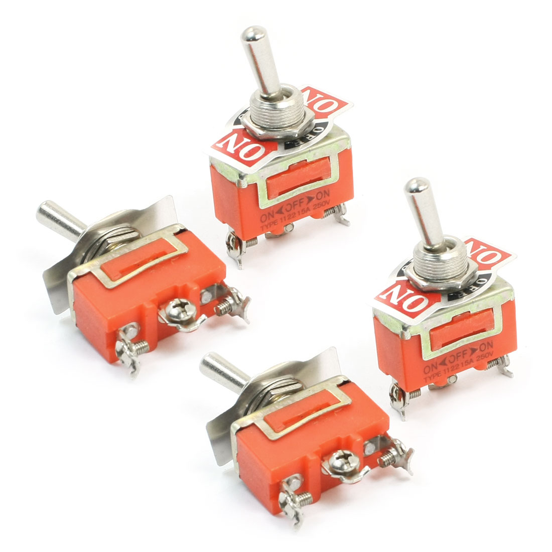 Spare Parts AC 250V 15A ON/OFF/ON 3 Positions 3 Pin Toggle Switch E-TEN1122 4pcs