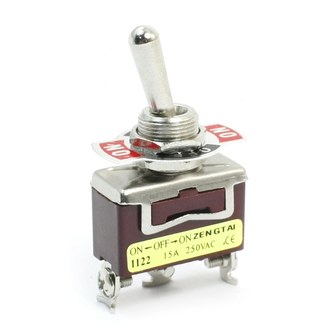 ON-OFF-ON SPDT 3 Screw Terminal Rocker Type Toggle Switch AC 250V 15A E-TEN1122