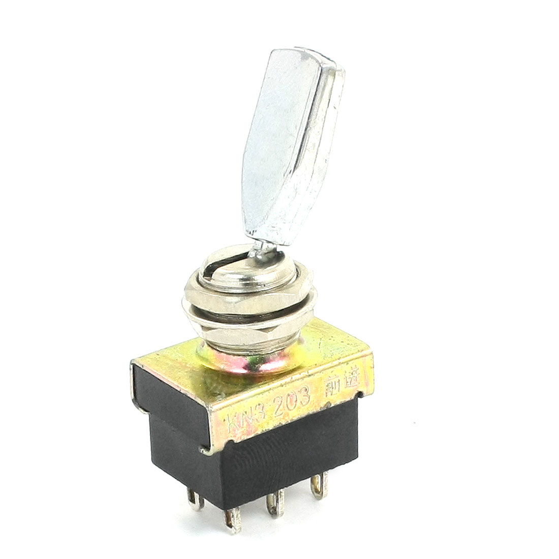 AC 220V 3A ON/OFF/ON 3 Positions 9 Pin Latching Toggle Switch DPDT KN3-203