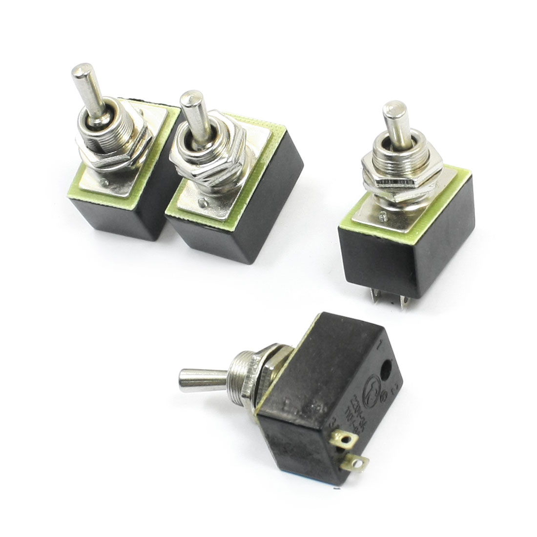 Spare Parts AC 110V 6A ON/OFF 2 Positions 2 Pin Toggle Switch KN3A 1X1 4pcs