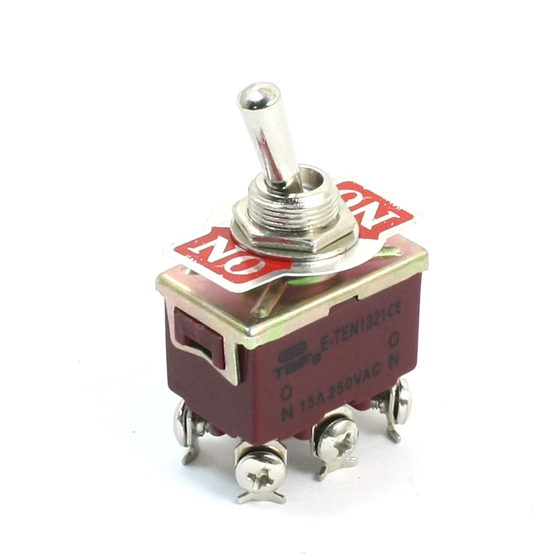 AC 250V 15A DPDT ON-OFF 2 Positions Self Locking Power Toggle Switch E-TEN1321